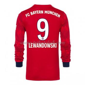Bayern Munich Robert Lewandowski 9 fotbalové dresy domáci dlouhým rukávem 2018-19