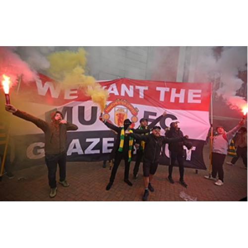 Fanoušci Manchesteru United plánují znovu protestovat